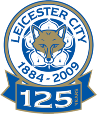 Leicester City's badge for the 2009–10 season to commemorate 125 years as a football club.