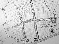 A map of Liverpool's original seven streets (north to the left).