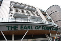 The Earl of Derby Stand at Aintree Racecourse; home of the Grand National