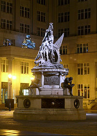 Nelson Monument at Exchange Flags. The other British hero of the Napoleonic Wars is commemorated in Wellington's Column
