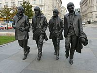 The Beatles statue in their home city Liverpool. The group are the most commercially successful and critically acclaimed band in popular music.