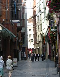 Mathew Street is one of many tourist attractions related to the Beatles, and the location of Europe's largest annual free music festival.