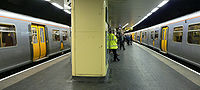 The Merseyrail network has extensive underground sections within the city centre. Liverpool Central is the UK's busiest underground station outside London