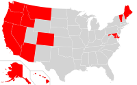 States where state-level laws allowed legalized medicinal marijuana before 2005