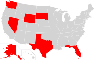 States that have no income tax at the state level