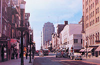 Hamilton Street West from 6th in 1950