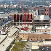 PPL Center construction in downtown Allentown in 2013.