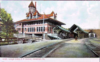 The Lehigh Valley Railroad station. Until the 1950s, the Lehigh Valley Railroad offered 2 hour and 15 minute direct train service to Pennsylvania Station in New York City.
