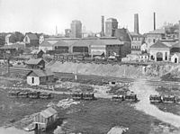 The Allentown Rolling Mill Company, photographed in 1889.