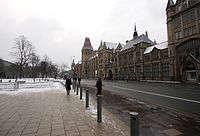 The buildings of the University of Manchester and the Manchester Museum in Oxford Road