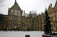 The Old Quadrangle at the University of Manchester's main campus on Oxford Road.