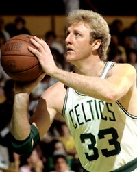 12 time All-Star Larry Bird played in the Celtics from 1979 to 1992. He is widely regarded as one of the greatest basketball players of all time.