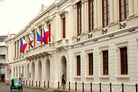 Ayuntamiento de Manila served as the City Hall during the Spanish Colonial Period.