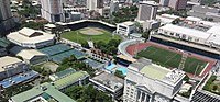 Aerial view of the city-owned Rizal Memorial Sports Complex, considered as the national sports complex of the Philippines.
