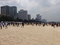 The Manila Bay Beach during the International Coastal Cleanup Day in September 2020.