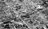 The destruction brought about by the Battle of Manila in 1945
