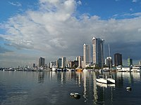 Skyline of Manila as seen from Harbour Square.
