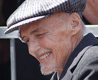 Hopper at a ceremony to receive a star on the Hollywood Walk of Fame on March 26, 2010, two months before his death