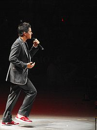 Archuleta performing during the American Idols LIVE! Tour 2008