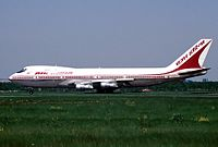Another photo of VT-EFO at Heathrow Airport, taken on 31 May, 23 days before the bombing.