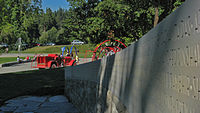 Monument and playground in Stanley Park, Vancouver, commemorating victims of Flight 182, dedicated July 2007