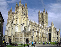 Canterbury Cathedral, seat of the Church of England – the island's largest denomination