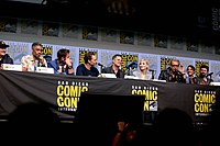 Kevin Feige, Taika Waititi, and the cast of Thor: Ragnarok at the 2017 San Diego Comic-Con