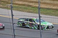 Busch racing at New Hampshire Motor Speedway in 2015