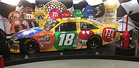 Busch's 2016 car at the M&M's World location on the Las Vegas Strip
