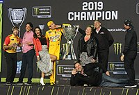 Busch after winning the 2019 Monster Energy NASCAR Cup Series Championship