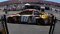 Kyle Busch during practice at Talladega Superspeedway.