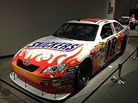 Busch's 2008 Atlanta-winning ride at the museum.
