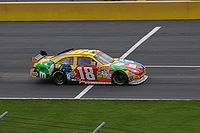 Kyle Busch on pit road at Charlotte Motor Speedway.
