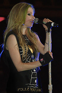 Lavigne during a performance in Florida, May 2011.