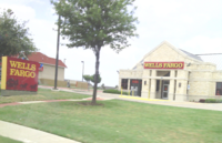 A remodeled Wells Fargo bank in Fort Worth, Texas