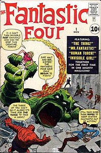 The Fantastic Four #1 (Nov. 1961). Cover art by Jack Kirby (penciler) and unconfirmed inker.
