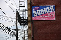 Cory Booker for Newark campaign sign