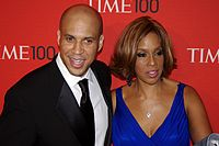 Booker with longtime friend Gayle King, 2011