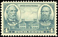 Generals Lee and Jackson, 1937 Issue.