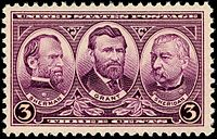 Generals Sherman, Grant and Sheridan, 1937 Issue