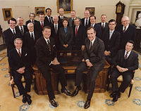 The Cabinet of President Reagan in 1981