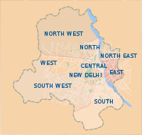 The city of New Delhi is located within the National Capital Territory of Delhi.