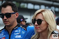 Graham Rahal with wife Courtney Force.