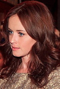 Actress Alexis Bledel is a White Hispanic of Argentine origin and Scottish, German and Scandinavian heritage. Bledel grew up in a Spanish speaking household and did not learn English until she began school.