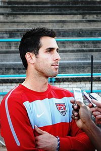 Bocanegra with the United States national soccer team in 2010