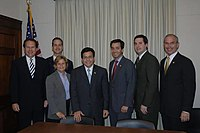 Congressional Hispanic Conference members met with Attorney General Al Gonzales