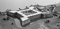 Castillo de San Marcos in Saint Augustine, Florida. Built in 1672 by the Spanish, it is the oldest masonry fort in the United States.