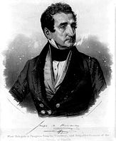 Delegate Joseph Marion Hernández of the Florida Territory, elected in 1822, the first Hispanic or Latino American to serve in the United States Congress in any capacity.