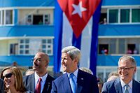 Kerry was the first U.S. secretary of state to visit Cuba since 1945