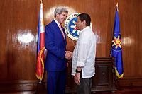 Kerry meets with Philippine President Rodrigo Duterte at Malacañang Palace in Manila, Philippines on July 26, 2016